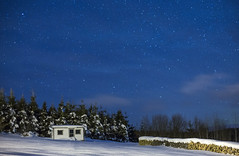 Val d'Espoir (Danny VB) Tags: star stars night snow winter cabin valdespoir canon 6d wood trees gaspesie quebec canada ef50mmf18ii christmas