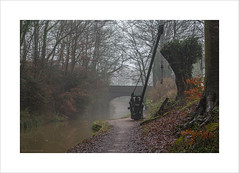 The old crane (Explore 18/01/17 #45) (andyrousephotography) Tags: worsley bridgewater canal crane boards dam drain repair narrowboats barge barges mist misty fog damp water still andyrouse canon eos 5d mkiii brilliant