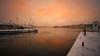 Nordic light (Arnaud D...) Tags: sweden suede sunset sunrise scandinavia nordiclight pink orange water snow sky ef1740