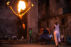Flight of the Phoenix (priscellie) Tags: cuba cubacollection dancer dancers dancing afrocuban afrocaribbean caribbean athlete athletic passion energy art fineart political history color music performer performance performing fire fireeating havana lahabana centrohabana