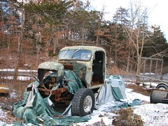 AN UNFINISHED OLD DODGE POWER WAGON IN JAN 2017 (richie 59) Tags: ulstercountyny ulstercounty newyorkstate newyork unitedstates sunday weekend winter townofnewpaltzny townofnewpaltz chryslercorporation richie59 outside dodge dodgetruck dodgepowerwagon jan2017 2017 jan82017 powerwagon 2010s americantruck ustruck 2door twodoor hudsonvalley midhudsonvalley midhudson nystate nys ny usa us greentruck tarp oldtarp rippedtarp olddodgetruck olddodge oldmopar truckcab truck oldtruck dodge4x4 4x4 4wheeldrive fourwheeldrive frontend sideview rusty rusted rusting rust rustydodgetruck rustydodge rustymopar trees snow