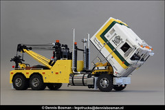 Kenworth K100 wrecker (legotrucks) Tags: lego legotrucks dennisbosman kenworth k100 holmes 750 cat scalemodelersassociation