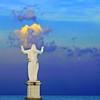 Cristo di Cirò Marina, Calabria (pom.angers) Tags: panasonicdmctz10 september 2011 ciròmarina cirò crotone calabria italia italy europeanunion marionio mediterraneo mediterraneansea statue sculpture 100