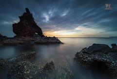 Waiting for Sunset over NagBintana Cove (Jose Hamra Images) Tags: bataan mariveles manila filipino nagbintanacove cove sunset sunrise seascape landscape longexposure