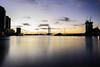 (Brad.S.Cook) Tags: sunset water long exposure sky bridge melbourne sea