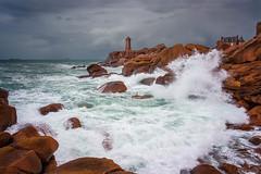 Ploumanac'h, Bretagne. (f.ray35) Tags: kurt tempête storm seacape landscape britany vagues canon breizh bzh côtes darmor 22 eos700d lighthouse phare