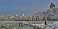 Havelte (henkmulder887) Tags: havelte drenthe holland clemenskerk thenetherlands winter koud cold wit rijp sneeuw glad kerk es esdorpenlandschap