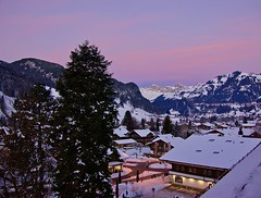 Dawn in Gstaad (somabiswas) Tags: snow winter gstaad switzerland mountains landscape dawn saariysqualitypictures
