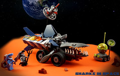 Febrovery 2017 Day 22 (TFDesigns!) Tags: lego space rover febrovery fluffy cat mars earth planet shark robot