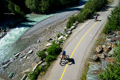 Valley Trail (JSTAR377) Tags: bike whistler shadows exercise pavement path bikes riding fitness rider fit fitzsimmons valleytrail