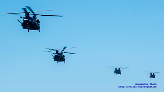 FOUR CHINOOKS - TWO US ARMY, TWO ROYAL AIR FORCE
