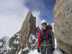 HAppy Johannes (HendrikMorkel) Tags: mountains alps mountaineering chamonix alpineclimbing arêtedescosmiques arcteryxalpineacademy2015