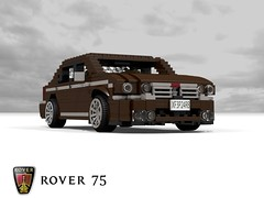 Rover 75 Saloon (1999) (lego911) Tags: auto uk england english car model lego stuck britain render group rover 1999 gb bmw 75 saloon challenge 92 1990s 90s cad lugnuts povray moc ldd longbridge miniland r40 lego911 stuckinthe90s