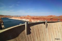 Glen Canyon Dam (rjgabor) Tags: red arizona lake rocks dam powell