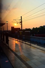 2015-07-16 18.12.13 (pang yu liu) Tags: sunset train work yahoo dusk jul 日落 07 夕照 雅虎 2015 工作 火車 七月