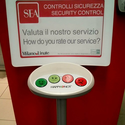How Do You Rate our Service? #airport #Milano #Linate #UserExperience #UX #Simple #UI #Good #Interface #Smile #Emoticons