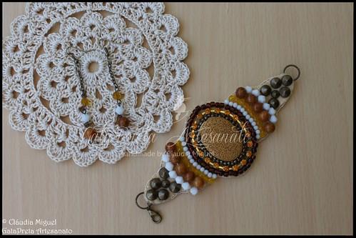 """Brincos e pulseira """"Honey"""" (colecção Primavera-Verão 2015)"""