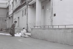 (Radu Tihon) Tags: street travel boy blackandwhite bw film 35mm europe grandmother kodak streetphotography photojournalism documentary talk social east professional romania generations society iasi