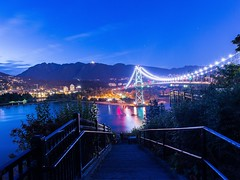 Who needs a stairmaster when you've got this? (Spencer Finlay) Tags: longexposure nightphotography bridge reflection vancouver stanleypark prospectpoint vancity
