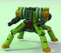 Microscale mech. (_bidlopavidlo_) Tags: digital robot lego designer walker micro mecha mech dragoon ldd
