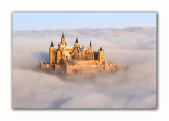 Hohenzollern - Castle in the clouds (MC-80) Tags: hohenzollern burg castle hechingen albstatdt schwäbische alb wolken clouds sunrise sonnenaufgang sea wolkenmeer nebel mist canon 70300l ef70300l 7dmkii 7dii winter snow schnee germany deutschland bisingen 855 m ü nn zellerhornwiese zeller horn outdoor fotorahmen