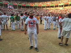 Running with the bulls, check!