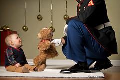 Toys for Tots (Sylvia Q) Tags: baby marines toysfortots canonrebeleost6i christmas ornaments teddybear christmasbear 430ex softbox ocf offcameraflash