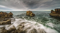 Rippled Rocks (Augmented Reality Images (Getty Contributor)) Tags: canon clouds coastline hopeman landscape leefilters longexposure morayshire nature rocks scotland seascape tide water waves