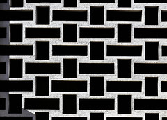 Architectural pattern on a building (paulo_m_gonçalves) Tags: align architecture background black bright building concrete contrast cross day element gap outdoor pattern perpendicular rectangle shadow urban white