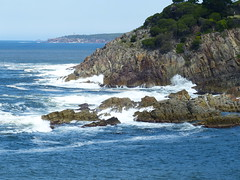 Seascape (teressa92) Tags: sea water waves surf blue southeast white cliff rocks seascape coast