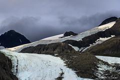 Glacial Flow (Alfred J. Lockwood Photography) Tags: alfredjlockwood nature landscape mountain chugachmountains glacier overcast morning rock ice valdez alaska summer peak worthingtonglacier richardsonhighway