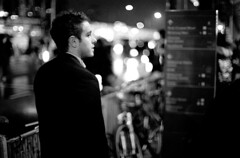 615-BF36/1B2 (Jock?) Tags: australia victoria melbourne city swanston flinders street station federation square night candid unaware man film retro vintage kodak tmax 400 tmy2 5053 push 2 ei 1600 nikon f4 nikkor 55mmf12k