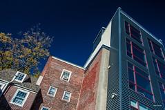Integration. (Igor Danilov Philadelphia) Tags: new old vintage modern same sky blue view pov architecture today philadelphia city design center taste look