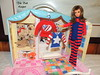 Vintage Mod Brunette Francie in Striped Types (The doll keeper) Tags: vintage mod tnt brunette francie doll red white blue sweater striped types knit