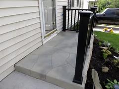 Concrete Flagstone Porch- Concrete Surface and Design- Union, KY (Decorative Concrete Kingdom) Tags: union kentucky frontporch flagstone concretestaining concreteoverlay decorativeconcrete