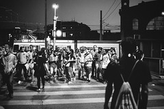 night crowd (gato-gato-gato) Tags: 35mm asph ch iso200 ilford leica leicamp leicasummiluxm35mmf14 mp mechanicalperfection messsucher schweiz strasse street streetphotographer streetphotography streettogs suisse summilux svizzera switzerland wetzlar zueri zuerich zurigo z¸rich analog analogphotography aspherical believeinfilm black classic film filmisnotdead filmphotography flickr gatogatogato gatogatogatoch homedeveloped manual rangefinder streetphoto streetpic tobiasgaulkech white wwwgatogatogatoch zürich manualfocus manuellerfokus manualmode schwarz weiss bw blanco negro monochrom monochrome blanc noir strase onthestreets mensch person human pedestrian fussgänger fusgänger passant zurich