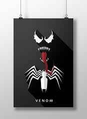 Venom (marciorodgs) Tags: venom peter parker eddie brock universo marvel dc liga justiça pôster cartaz cartazes design plano ilustração ilustrações desenho desenhos comics quadrinho quadrinhos super herói heróis vilão vilões xmen pôsteres