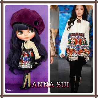 I WON HER IN THE LOTTERY!!! 💜Call me crazy but I love Anna Sui fashions and although she's $$$ and not translucent.. I'm all in! *not my pic*