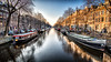 Holiday on Ice (Littlepois Photographie) Tags: nikon d4 littlepois nikon1635f4 lr4 colorefexpro 169 amsterdam paysbas hollande nederland canal boat gel glace