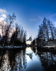 Reflections (Haapih) Tags: reflections finland kiuruvesi river woods countryside reflection snow winterwonderland winter ice landscape