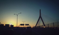 22/52 (jpadidal) Tags: city bridge sunset car boston photography highway streetlight baseball massachusetts hill bunker zakim