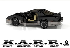 K.A.R.R. - Knight Industries Roving Robot (Knight Rider TV Series - 1984) (lego911) Tags: auto usa car america robot tv am 1982 model lego render evil anger turbo management 1984 firebird knight pontiac trans 1980s challenge v8 transam 91 industries cad lugnuts povray karr kitt moc ldd angermanagement miniland lego911