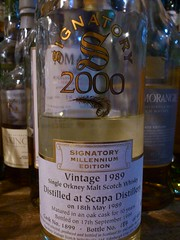 Scapa 1989 Signatory Millennium 43% 9yo (eitaneko photos) Tags: tokyo bottle august millennium single whisky 1989 cl 43 scapa malt 2014 signatory 9yo