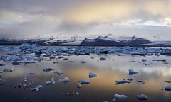 Glacier Lagoon in Iceland (Ludovic Farine) Tags: trip sunset summer mountain lake snow cold ice island daylight iceland long day north lagoon reykjavik glacier adventure iceberg epic jokulsarlon islande