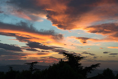 Sunset from Montalto Delle Marche (MikePScott) Tags: ascolipiceno camera clouds featureslandmarks hills italia italy lemarche lens montaltodellemarche nikon2470mmf28 nikond600 sky sunset topography trees