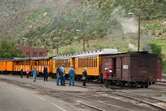 LoadingTimeDurangoCO6-13-15 (railohio) Tags: colorado trains steam durango narrowgauge riogrande d90 durangosilverton dsng 061315