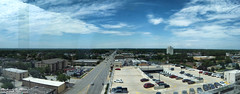 Looking West on 95th Street - Oak Lawn, IL - from 7 stories up (Rick Drew - 16 million views!) Tags: road street trees summer clouds hotel town illinois community garage parking hilton sunny il healthcare oaklawn 2015 christcommunityhospital