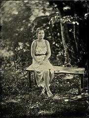 Tintype Portrait of Lauren (2014) (B Hiott) Tags: portrait wet century photography large plate tintype format process alternative 19th collodion