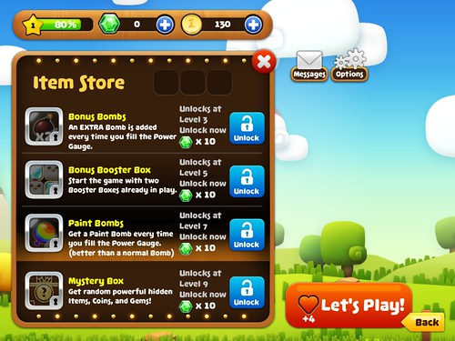 Mobile games Items Store: screenshots, UI