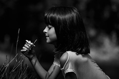 Take care of me (mgdlima) Tags: people bw flower girl monochrome face kid flor criança cheirando delicacy deepoffield smelling garotinha delicadeza eoshe canon6d ef70200mmf28lisiiusm